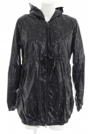 Nikita Heavy Raincoat black-white allover print casual look