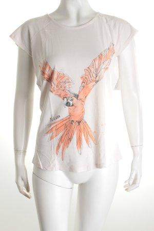 Nikita T-Shirt weiß-apricot Motivdruck Casual-Look