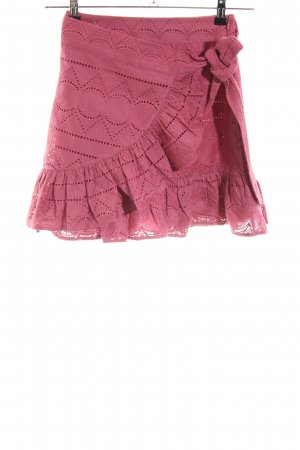 Nikkie Wraparound Skirt violet-dusky pink Boho look