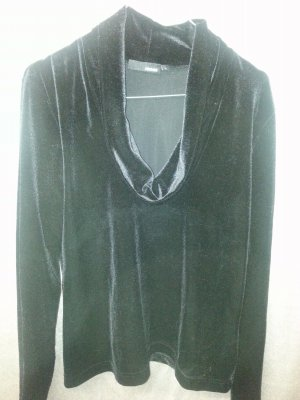 Cowl-Neck Shirt black