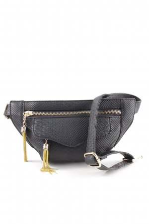 Nila anthony Bumbag black-gold-colored animal pattern casual look