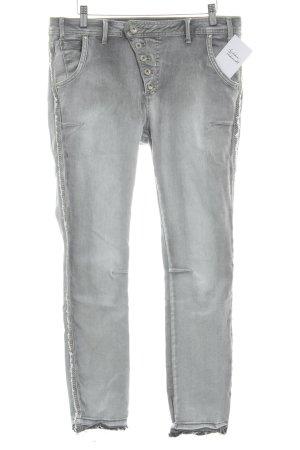 NILE atelier Skinny Jeans hellgrau Casual-Look