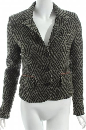 Nile Blazer schwarz-grüngrau abstraktes Muster Street-Fashion-Look