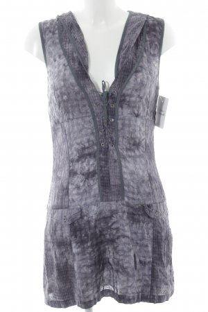 Nile Hooded Dress slate-gray-light grey mixed pattern boyfriend style