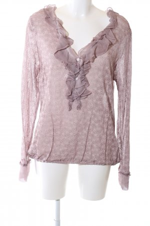 Nile Rüschen-Bluse pink Business-Look