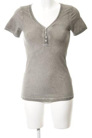Nile Shirt graubraun Allover-Druck Casual-Look