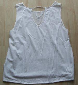 NILE Shirt Top mit Seide - weiß - Gr. L - NEU