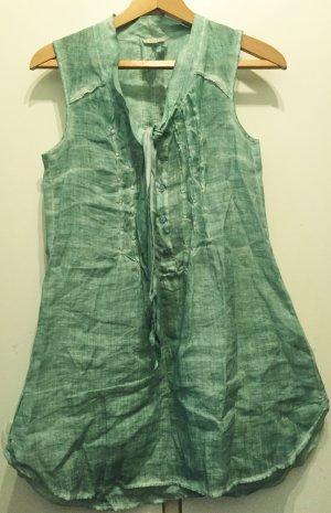 Nile Robe tunique vert-turquoise ramie