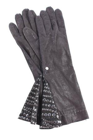 Nina Peter Lederhandschuhe schwarz Punktemuster Elegant