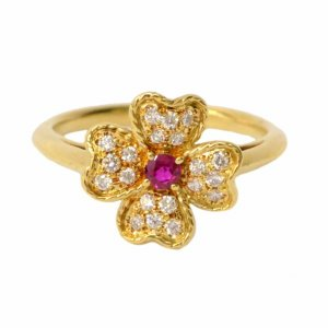 Nina Ricci Nina Ricci Diamond Ruby Ring