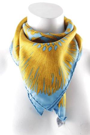 Nina ricci Panno di seta blu-oro elegante