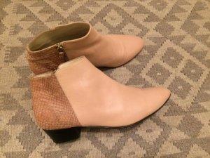 Nine to Five öko fair trade Stiefel Boots Ankle Stiefeletten 41 nude NP 230 euro ausverkauft