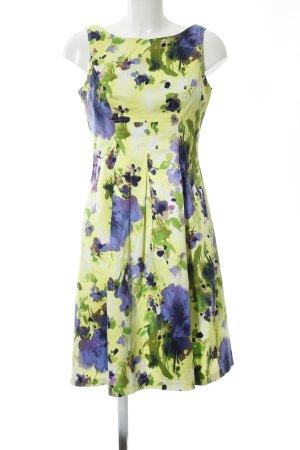 Nine west A-Linien Kleid grün-blau Blumenmuster Business-Look