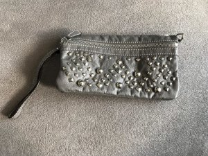 Nine West Clutch grau mit Nieten