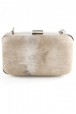 Nine west Borsa clutch marrone chiaro-argento stampa rettile