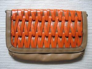 nine west clutsch tasche neuwertig orange braun