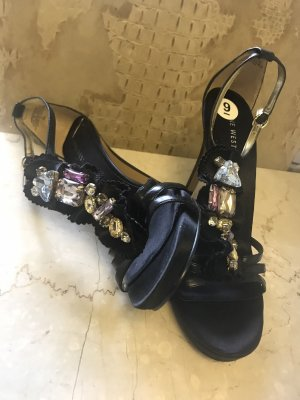 Nine West Damen Bling Chrystal  Sandalen 39 Neu
