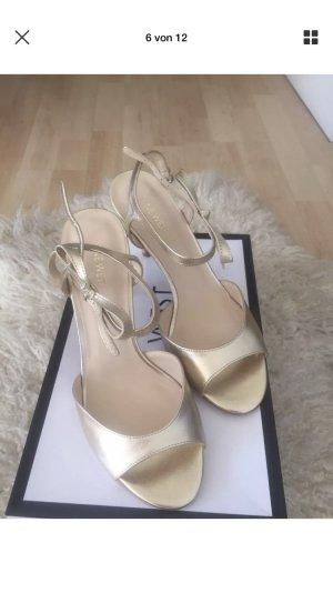 Nine West Gratziay Woman Summer Leder God Heels Sandalen Schuhe Pump 39,5 NEU