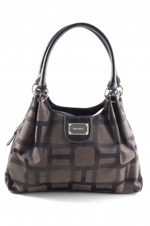 Nine west Henkeltasche braun-schwarz Allover-Druck Business-Look