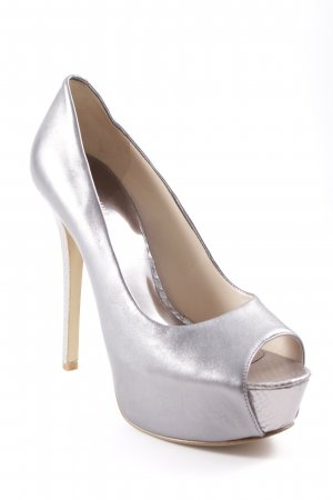 Nine west High Heels silver-colored party style