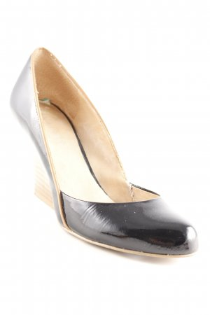 Nine west Keil-Pumps schwarz-braun Lack-Optik