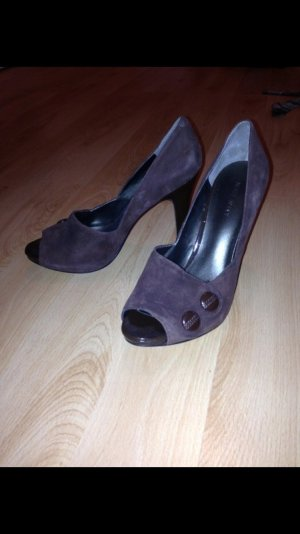 Nine west Peep Toe Pumps dark brown-brown