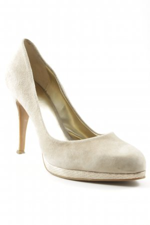 Nine west Décolleté con plateau crema-oro impronta animale