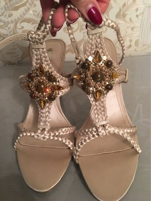 Nine west Strapped Sandals gold-colored-bronze-colored