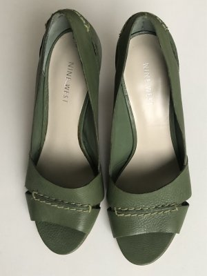 NINE WEST Pumps Gr 6,5 Wie Neu Grün LEDER
