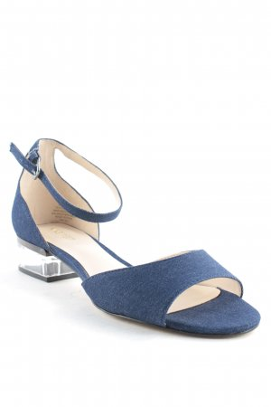 Nine west Riemchen-Sandalen blau-creme Jeans-Optik