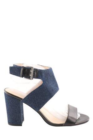 Nine west Riemchen-Sandaletten blau-schwarz Elegant