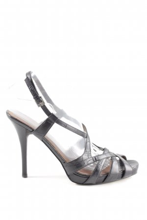 Nine west Strapped High-Heeled Sandals black casual look