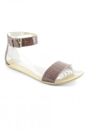 Nine west Römer-Sandalen braun Animalmuster Reptil-Optik