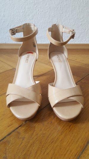 Nine west Strapped High-Heeled Sandals cream-beige