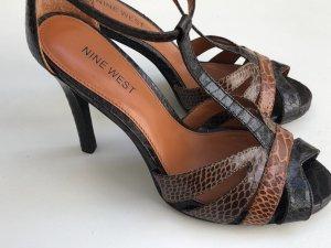 NINE WEST Sandaletten Gr 37 Leder NEU