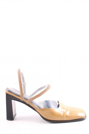 Nine west Slingback-Pumps wollweiß-schwarz Business-Look