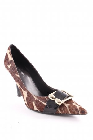 Nine west Spitz-Pumps braun-beige Vintage-Look