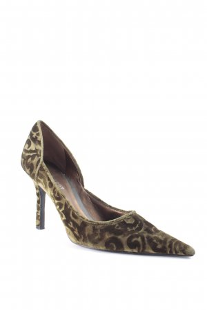 Nine west Spitz-Pumps dunkelgrün Samt-Optik