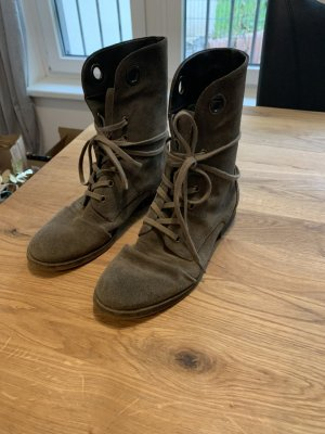 Nine West Suede Combat Boots