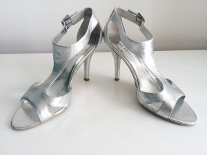 NINE WEST - T-Steg Sandaletten in Silber Party/Abiball/Hochzeit