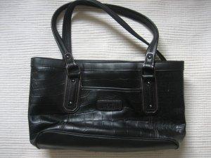 Nine West Tasche schwarz krokoleder wie neu buero klassiker