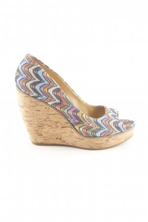 Nine west Wedges Sandaletten Allover-Druck Casual-Look