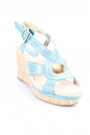 Nine west Wedge Sandals beige-turquoise casual look