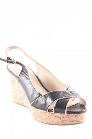 Nine west Sandalo a zeppa nero-marrone stile casual
