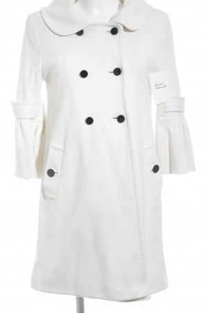 Nine west Cappotto in lana bianco sporco stile casual