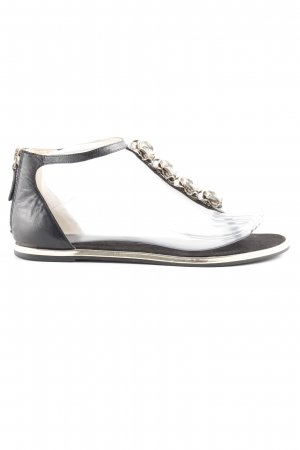Nine west Sandalo toe-post nero-oro