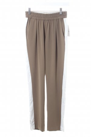 Nioi Trousers light brown-white athletic style