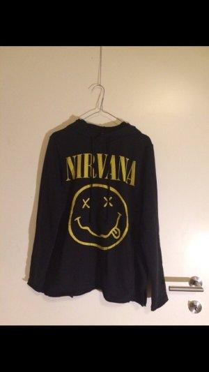 H&M Jersey con capucha negro-amarillo