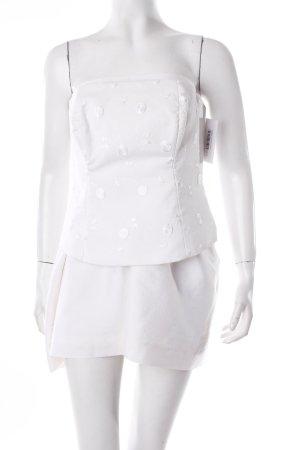 Nisades Vestido corsage blanco elegante