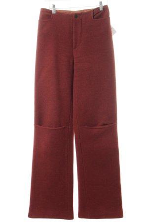 NIX Wollen broek donkerrood vintage uitstraling
